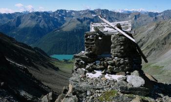 Blick von der Similaunhütte auf den Vernagt-Stausee