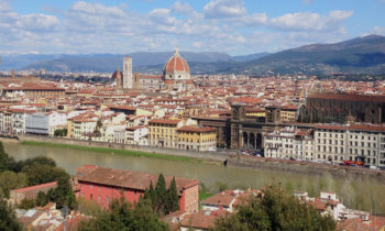 Blick vom Piazzale da Michelangelo in Florenz