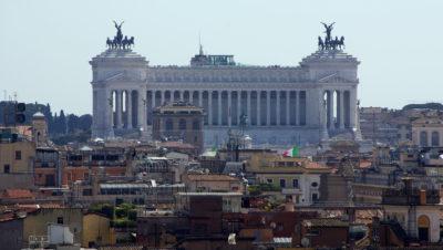 Blick auf das Monumento Nazionale a Vittorio Emanuele II