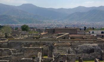 Blick über Pompeji