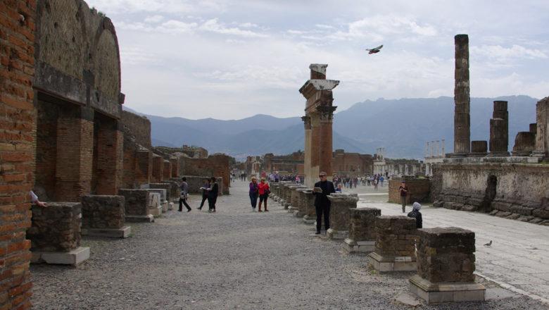Im ausgegrabenen Teil von Pompeji
