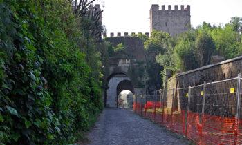 Radweg beim Verlassen Roms