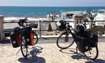 Radweg am Stand von Lido di Ostia