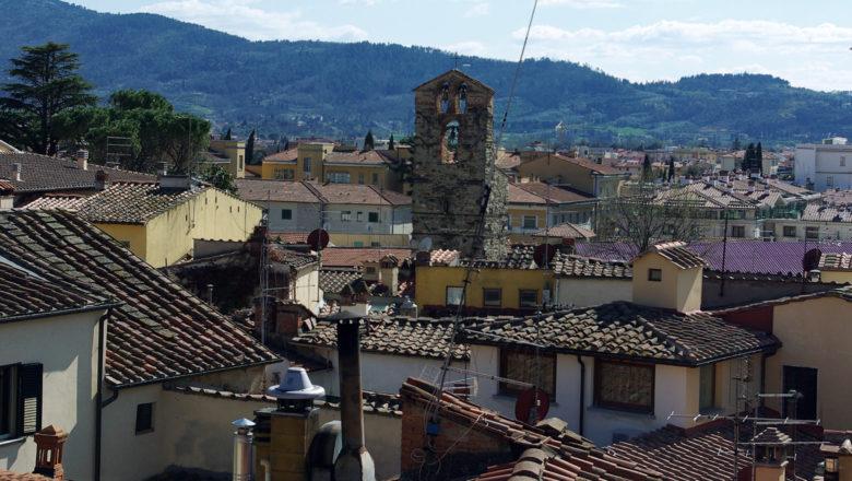 Auf den Dächern von Arezzo, Toskana