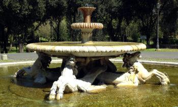 Brunnen bei der Villa Borghese in Rom