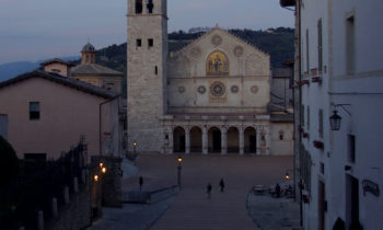 Abend in Spoleto, Umbrien