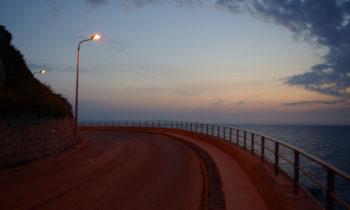 Küstenstraße bei Capo d'Orlando
