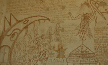 Religiöses Grafitto im Inquisitionsmuseum
