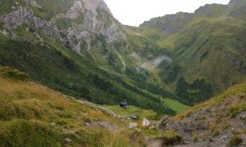 Blick zurück auf das Hochweißsteinhaus