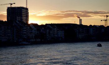Sonnenuntergang in Basel auf dem Südschwarzwald Radweg