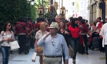 Christliche Prozession in Cádiz