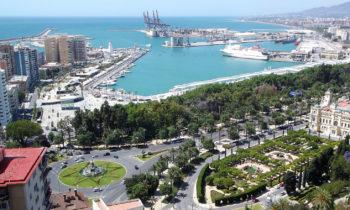 Blick auf den Hafen von Málaga