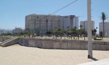 Strandpromenade in Tanger, Marokko