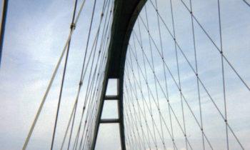 Auf der Fehmarnsundbrücke