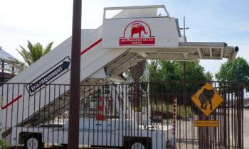 Boarding des mechanischen Elefanten