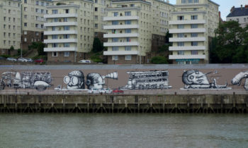 Street Art am Ufer der Loire in Nantes