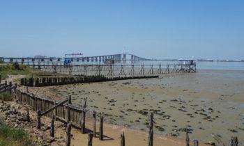 Die Loire-Mündung in den Atlantik