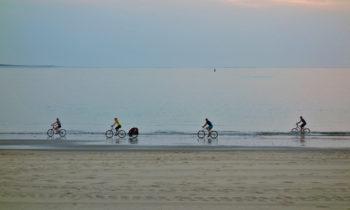 Radfahrer in Royan