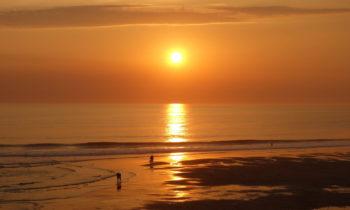 Sonnenuntergang in Lacanau Océan