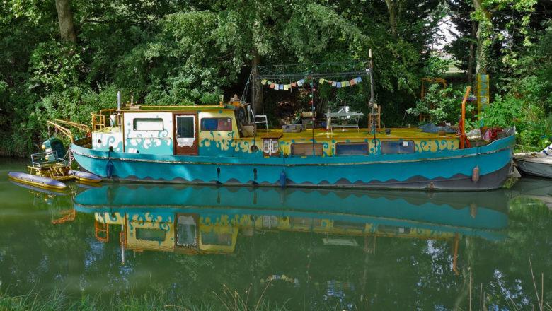 Boot auf dem Canal du Midi