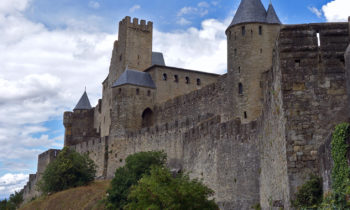 Festungsmauer in Carcassone