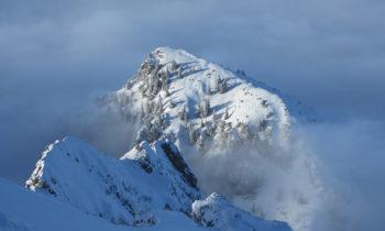 Blick auf die Wolken von der Alpspitze