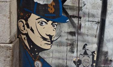 Street Art in den Gassen von Barcelona