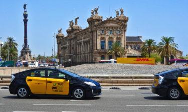 Kolumbus Statue am Hafen von Barcelona
