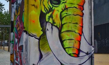 Street Art im Viertel Poble Sec in Barcelona