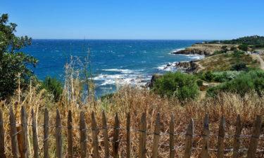 Blick aufs Mittelmeer in Argelès-sur-Mer