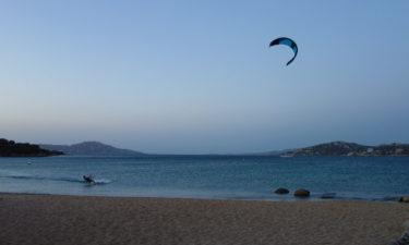 Kitesurfer in Porto Pollo