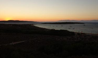 Sonnenuntergang am Strand von Porto Pollo