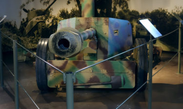 Panzerabwehrkanone im Museum of the Battle of Normandy in Bayeux