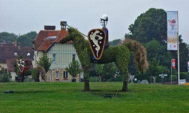 Normannische Kavallerie in Bayeux