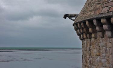 Gargoyle an der Kathedrale Mont-Saint-Michel