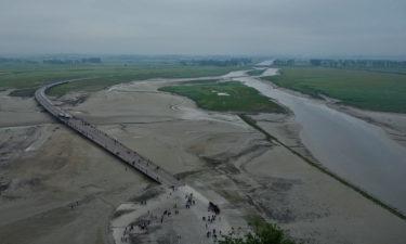 Flußmündung am Mont-Saint-Michel
