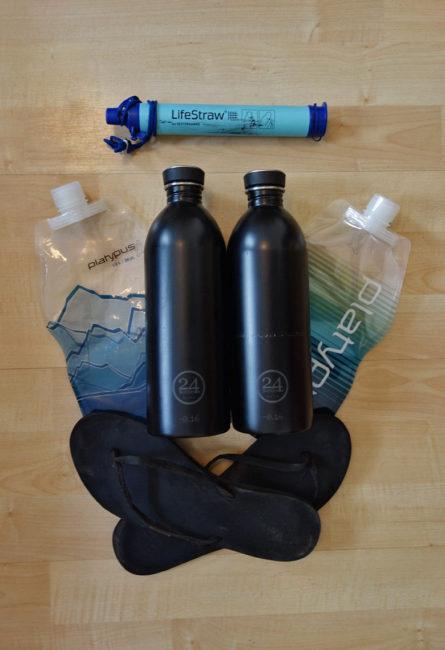 Packliste Hüttenwanderung: Trinkflaschen