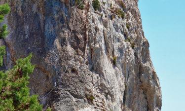 Klettersteig mit Seilsicherung auf Tavolara