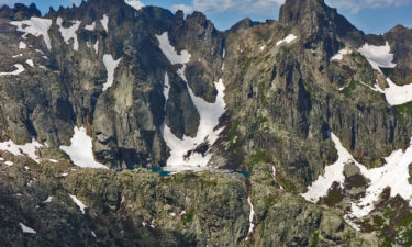 Blick zurück auf Brèche de Capitello und Lac de Capitello