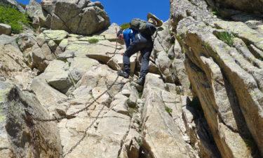 Kletterpartie auf dem GR 20