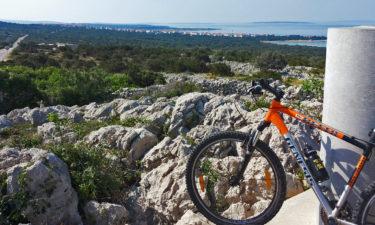 Mit dem Mountainbike an der Küste von Kroatien