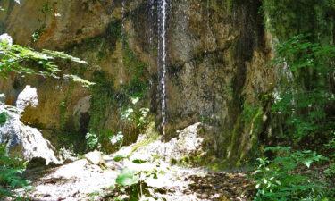 Wasserfall in der Schlucht von Celano