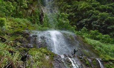 Wasserfall in der Orfento-Schlucht