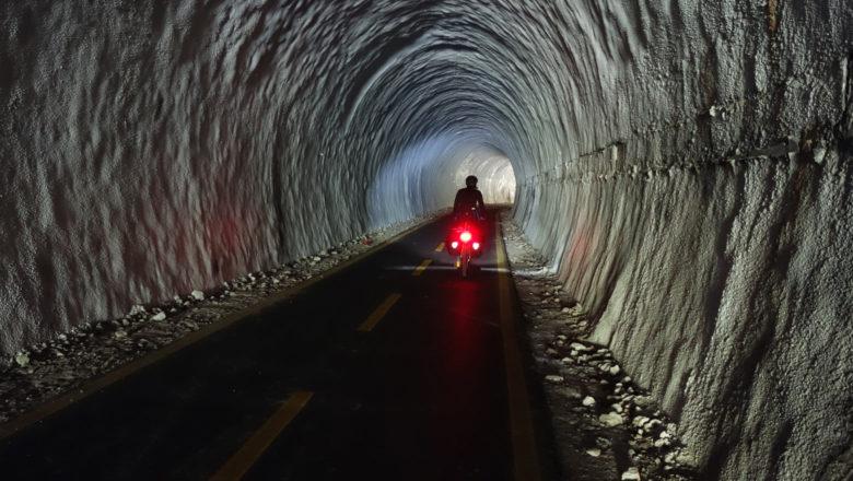Bahntunnel auf dem Ciclovia Alpe-Adria-Radweg