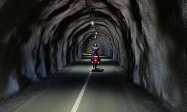 Fahrradtunnel auf dem Ciclovia Alpe Adria Radweg