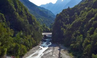 Der Tagliamento nahe Dogna auf dem Alpe-Adria-Radweg