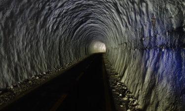 Ehemaliger Eisenbahntunnel auf dem Alpe-Adria-Radweg