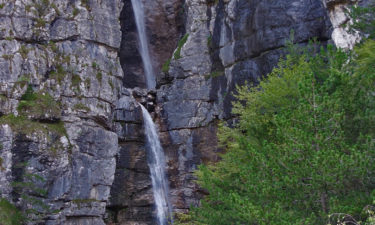 Wasserfall am Alpe-Adria-Trail