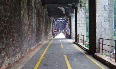 Radweg auf der Ponte Di Ferro bei Chiusaforte