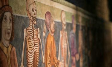 Wandmalerei in der Burg von Ljubljana